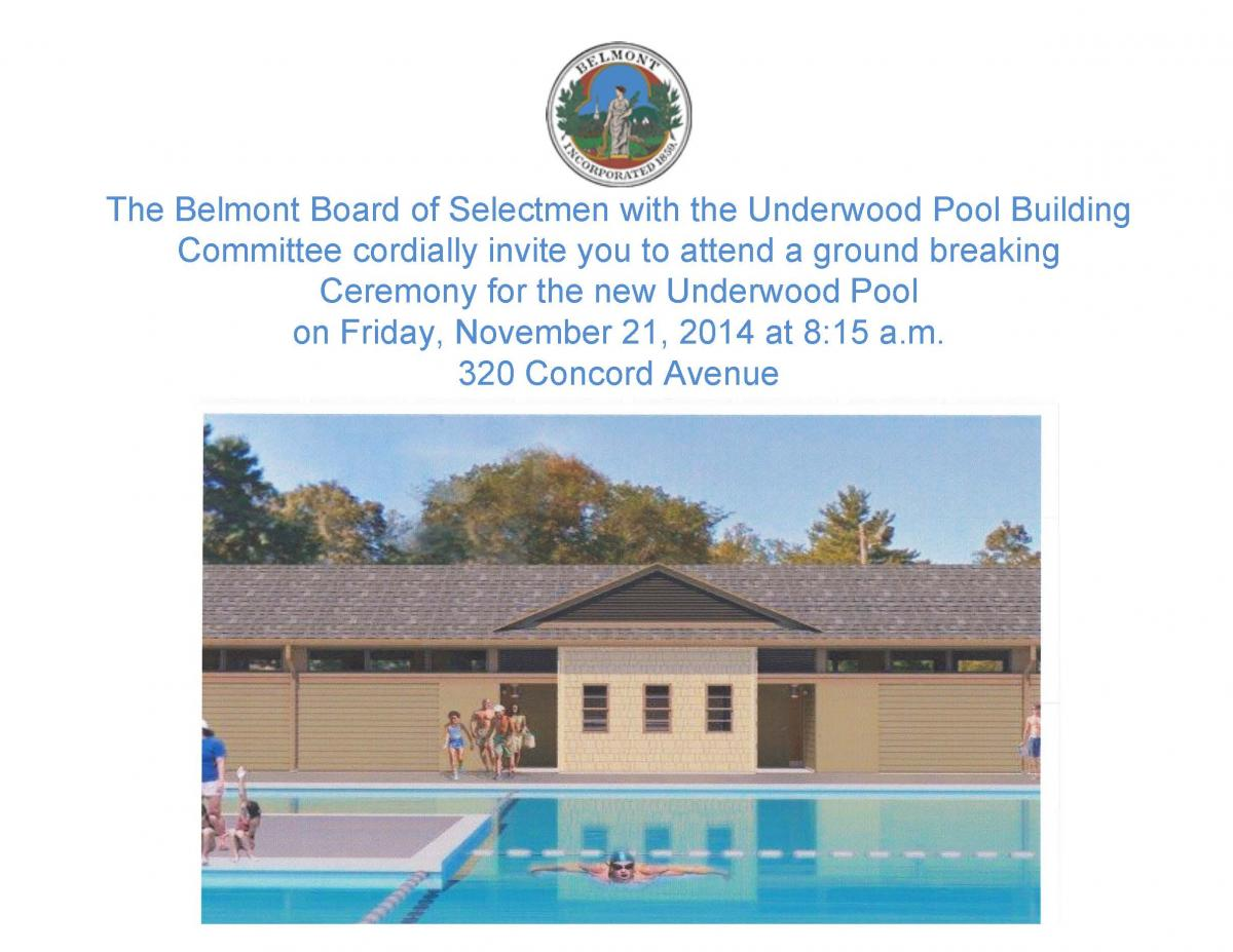 Underwood Pool Groundbreaking